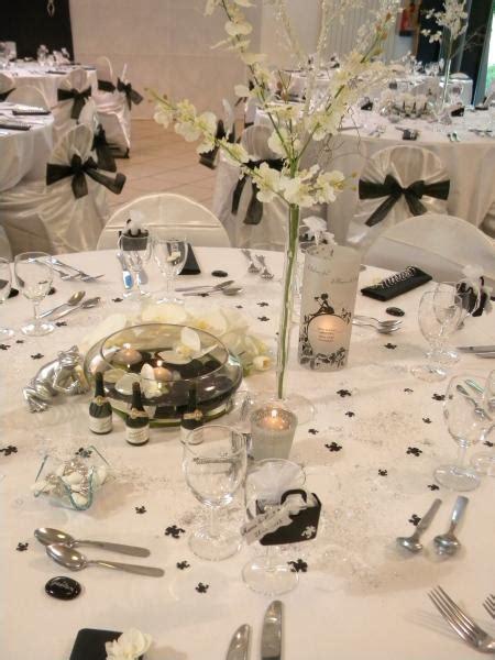 Decoration De Table Noir Et Blanc by Decoration Salle Mariage Noir Et Blanc