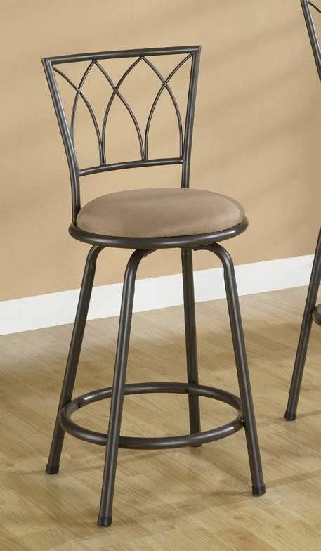 24 inch counter height swivel stools brown metal swivel counter height bar stool 24 inch by