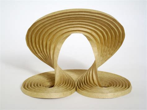 Erik Demaine Origami - waves 2009 curved crease sculpture by erik and martin