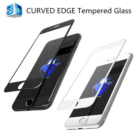 Iphone 7 Plus Anti Tempered Glass Curved Edge 9h T1910 3d curved edge cover tempered glass screen protector