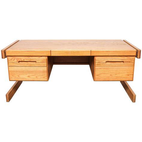 Modern Oak Desk American Mid Century Modern Oak Lou Hodges Desk For Sale At 1stdibs