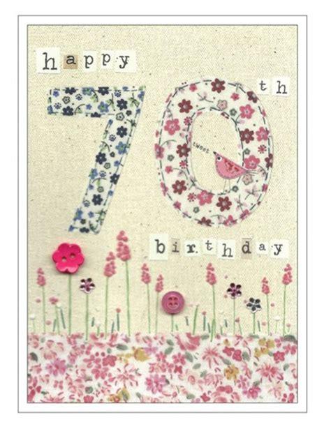 70th Birthday Card 70th Birthday Cards Cinnamon Aitch Age Birthday Cards