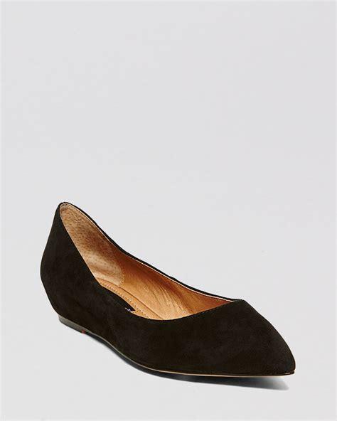 steven by steve madden pointed toe demiwedge flats garnur in black lyst