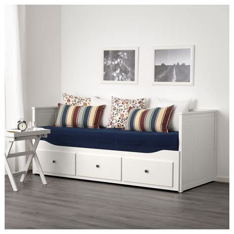 ikea hemnes day bed hemnes day bed w 3 drawers 2 mattresses white malfors