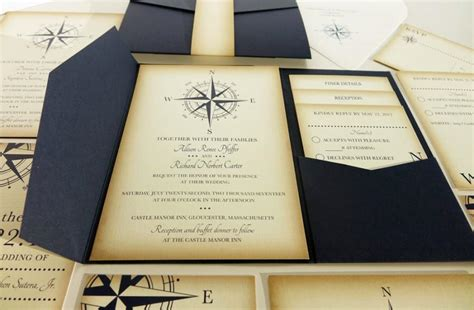 nautical wedding invitation wording vintage compass wedding invitation navy blue nautical