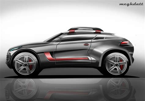 peugeot quartz side view suv concept side view render sketches car