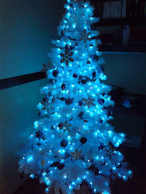 luhivy s favorite things silver white and blue christmas tree