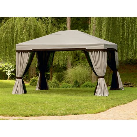gazebo privacy curtains 10 x 12 garden oasis 999 2141542 10 ft x 12 ft privacy