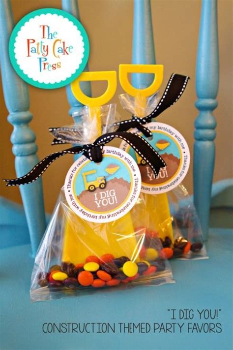 i dig you party favors fun favor friday i dig you construction themed party