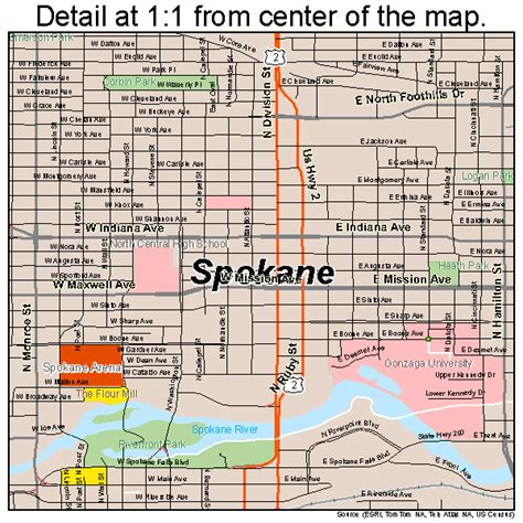 spokane map spokane washington map 5367000