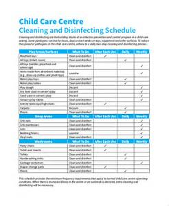 Daycare Cleaning Checklist Templates by Daily Cleaning Checklist Template Ebook Database