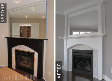 fireplace makeovers before and after corner fireplace before after diy pink notebook