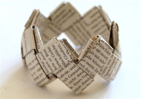 Folded Paper Chain - 84 best images about made from books on