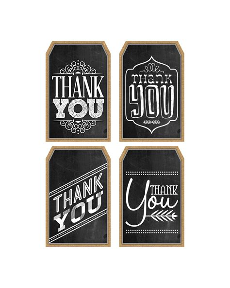 Thank You Card Tag Template by Free Printable Thank You Chalkboard Tags A Happy