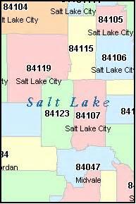 Slc Zip Code Map by Salt Lake County Utah Digital Zip Code Map