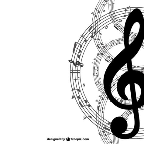 free design music music key and notes background vector free download