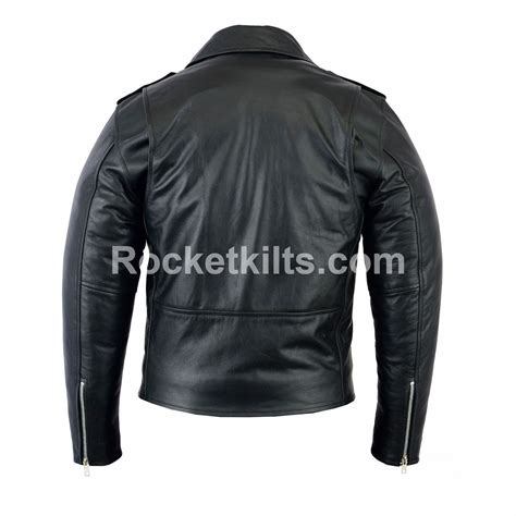 mens black leather motorcycle jacket mens brando black leather motorcycle jacket biker