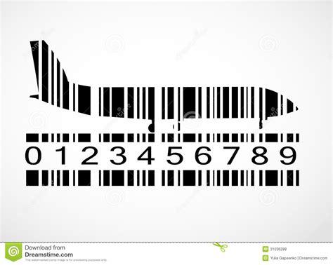 eps format barcode generator barcode airplane image vector illustration stock vector