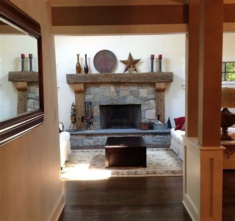 Rustic Fireplace Mantels   Rustic   Family Room   New York