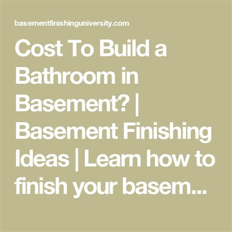 cost to build a bathroom in basement cost to build a bathroom in basement basement finishing