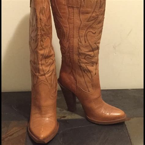 womens cowboy boots high heel new alan high heel