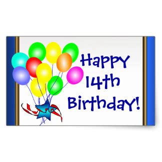 Happy 14th Birthday Wishes Happy 14th Birthday Gifts T Shirts Art Posters Other