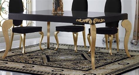 gold dining set luxus black and gold leaf dining set collection