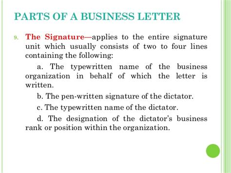 business letter signature line proper signature line business letter lecture 05 writing