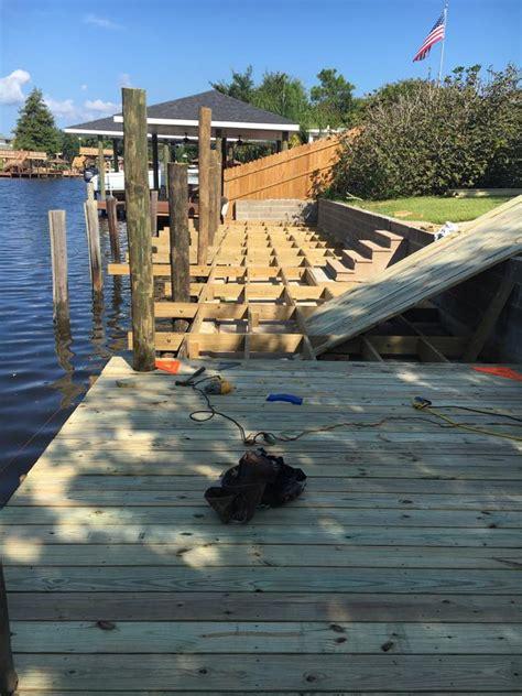 boat building near me piling repair dock repair marine construction la ms