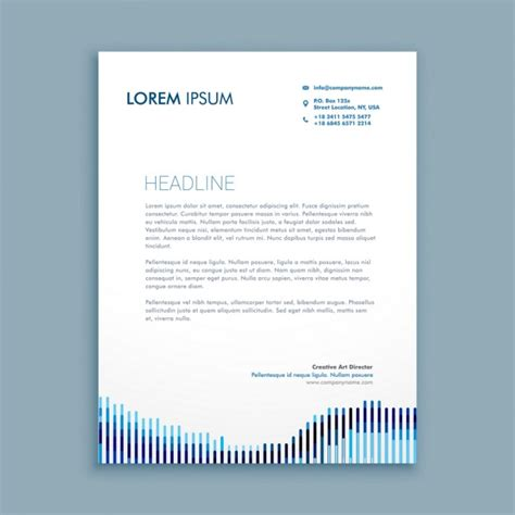 modern business letterhead modern business letterhead with lines vector free