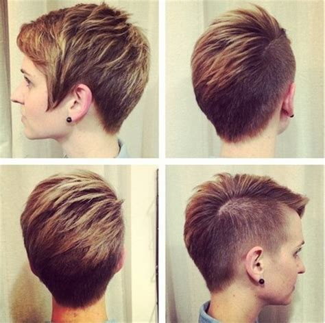 short style haircut women shaved back long front 18 short hairstyles for thick hair styles weekly