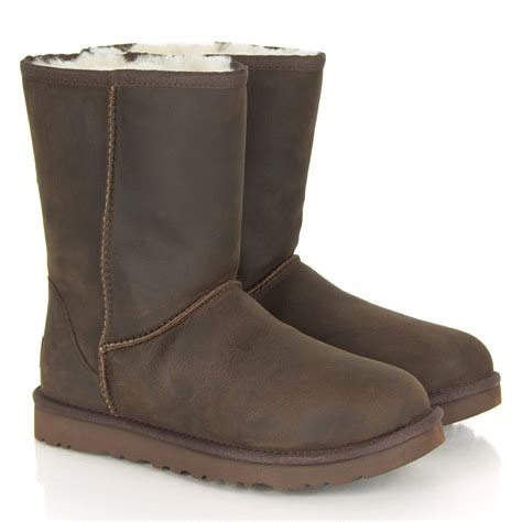 ugg 174 classic leather brown boot
