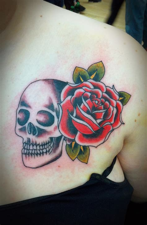 skeleton and rose tattoo tattoos skull and