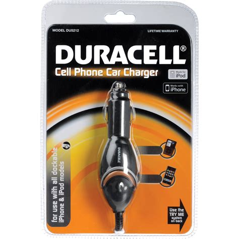 cell phone car chargers duracell cell phone car charger du5212 b h photo