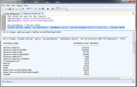 sql query basics tutorial basic sql querying from powershell sqlvariations sql