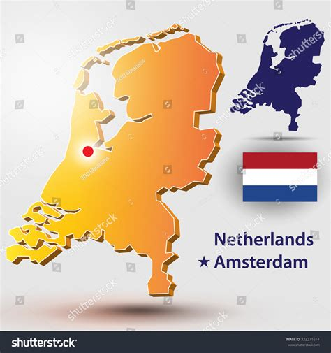 netherlands map vector map of the netherlands vector silhouette of the