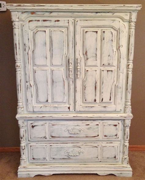 white chalk paint armoire shabby chic armoire painted with annie sloan chalk paint
