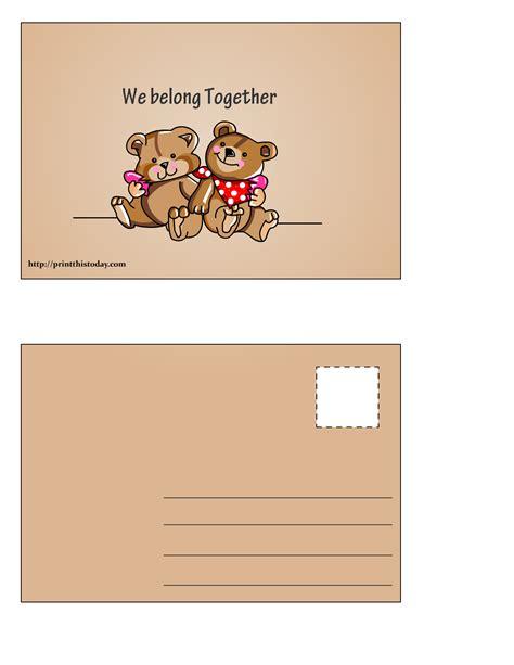 Printable Love Postcards | 24 free printable love postcards