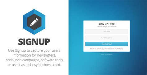 themeforest sign up signup landing page by bornthemes themeforest