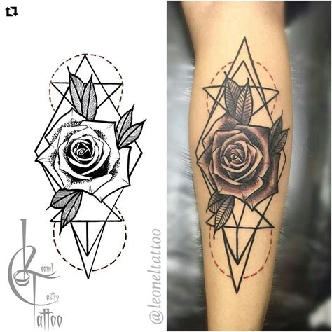 geometric rose tattoo black and grey geometric stuff to draw