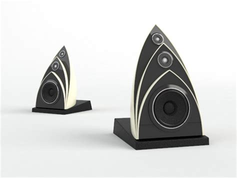 designer speakers utzon speaker design was inspired by sydney opera house