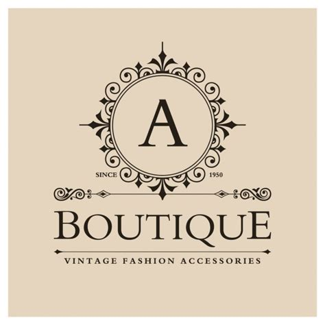Free Logo Design For Boutique | vintage boutique logo vector free download