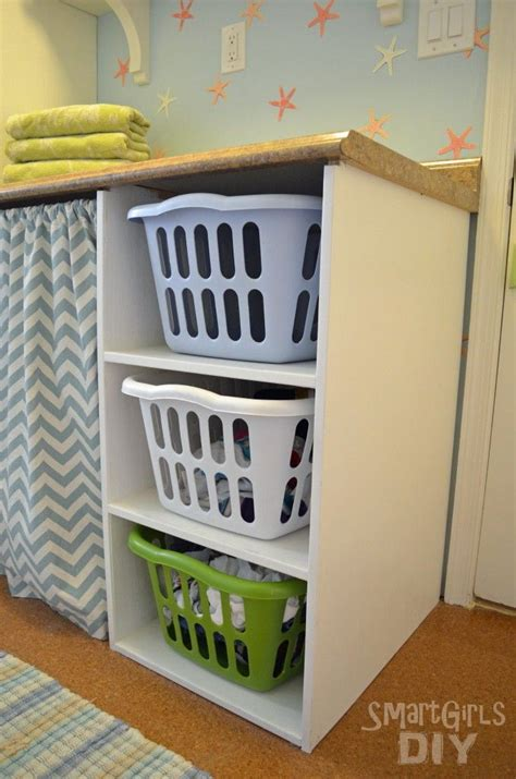 17 best ideas about laundry basket shelves on