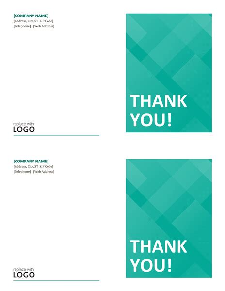 thank you card templates office cards office