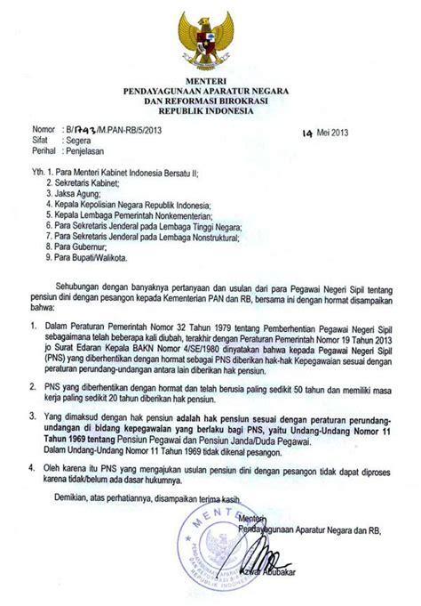 contoh surat edaran resmi