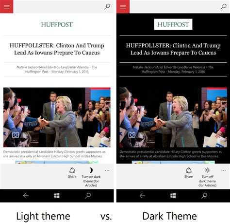 themes in reading in the dark msn news for windows 10 gets new dark theme for bedside