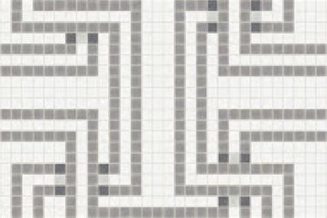 mosaic key pattern grey greek key tile pattern athena titanium by artaic