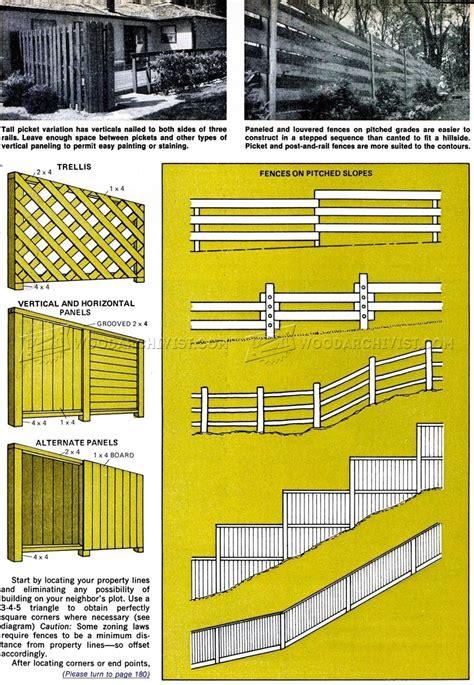 wood fence plans woodarchivist