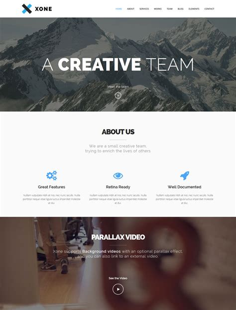theme wordpress xone 15 responsive wordpress one page themes