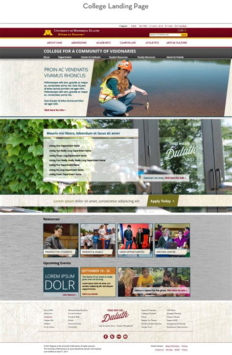 Umd Templates Dreamweaver Landing Page Template